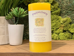 Positive Energy - Large Crystal Journey Candle
