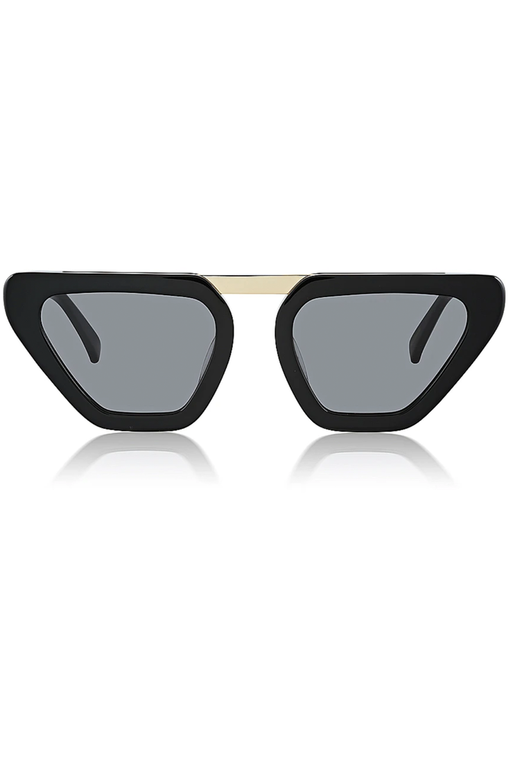 THE ROMANCE IS DEAD SUNGLASSES - BLACK & GOLD