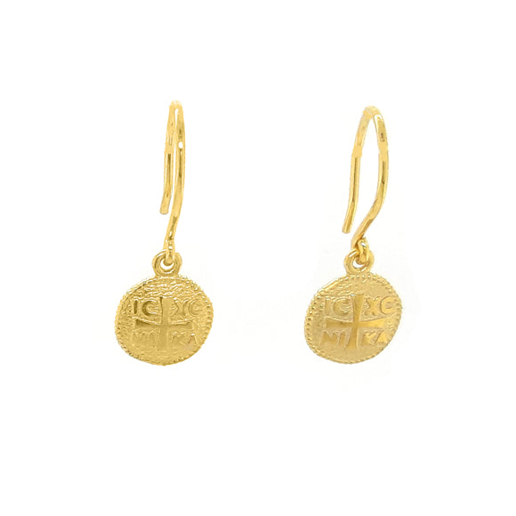 Funky Metal / Symbolic - Earrings - Silver 925 Yellow Gold Plated