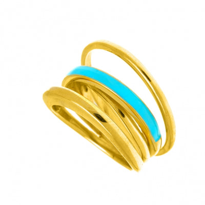Color Me / Fairy Color Ring -  silver 925 gold plated with enamel