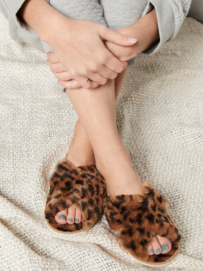 Pillow Talk Slippers - Leopard