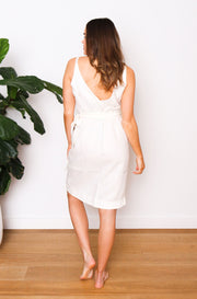 Native Speaker Cross Over Dress - Off White