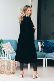Wuthering Heights Velvet Coat | Black