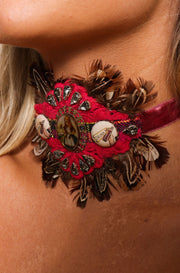 Pheasant Feather Choker / Bracelet