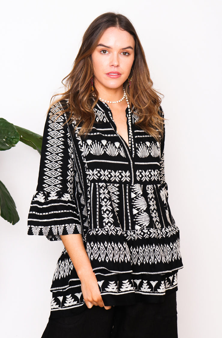 Chios Top - Black