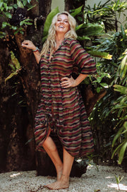 Stella Dress - Forest Wave Print