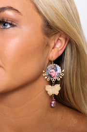 Frida Kahlo Butterfly Earring