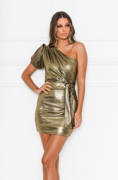 Dripping Dress - Gold