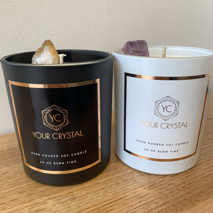 Crystal Infused Candles