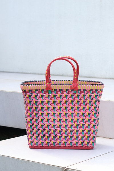 Pali Basket - Pink Pastel Wave Medium KUU KUU