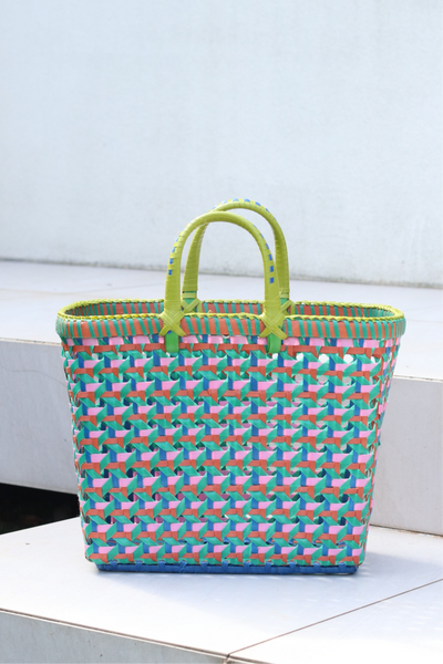 Pali Basket - Lime Pastel Wave Medium KUU KUU