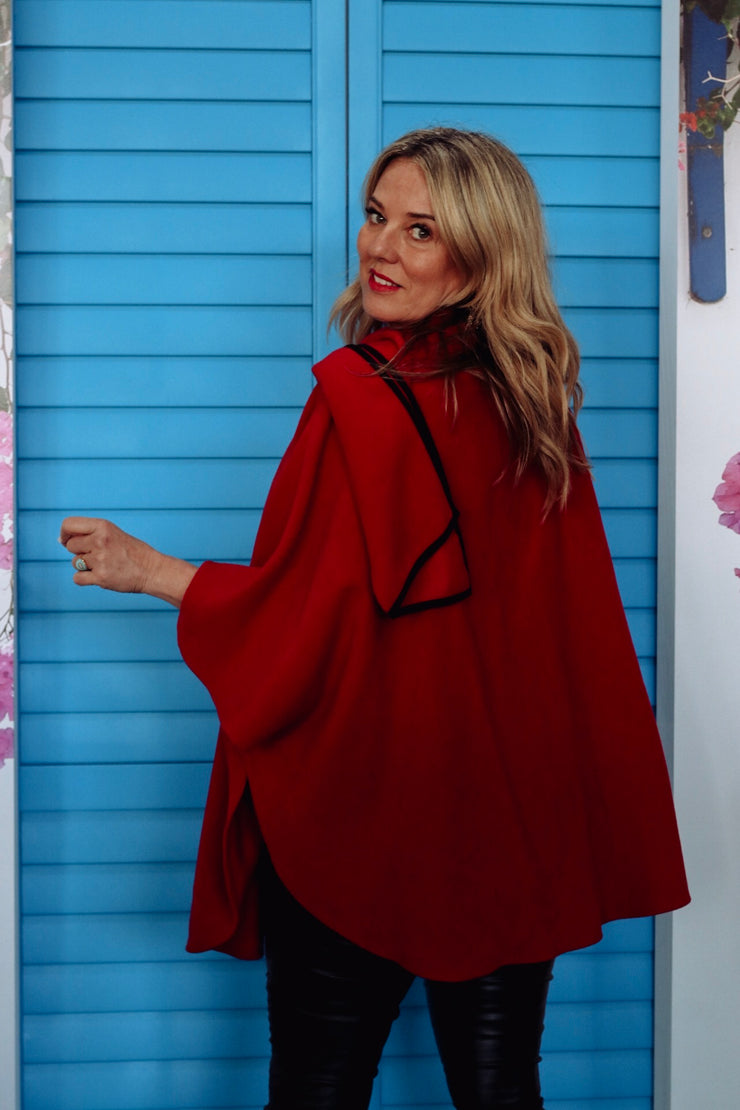 Poppins Poncho - Cherry