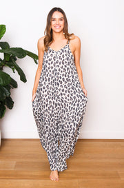 Leopard Jumpsuit - Natural
