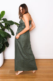 Native Speaker Maxi Dress - Olive