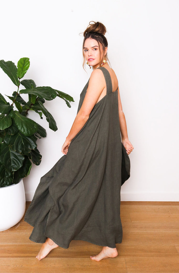 Faye Pocket Dress - Olive