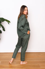 Native Speaker Button Front Pant - Olive