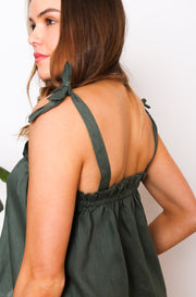 Native Speaker Top Tied Straps - Olive