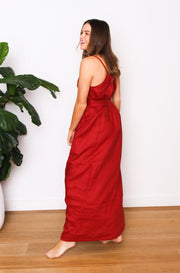 Native Speaker Maxi Dress - Clay
