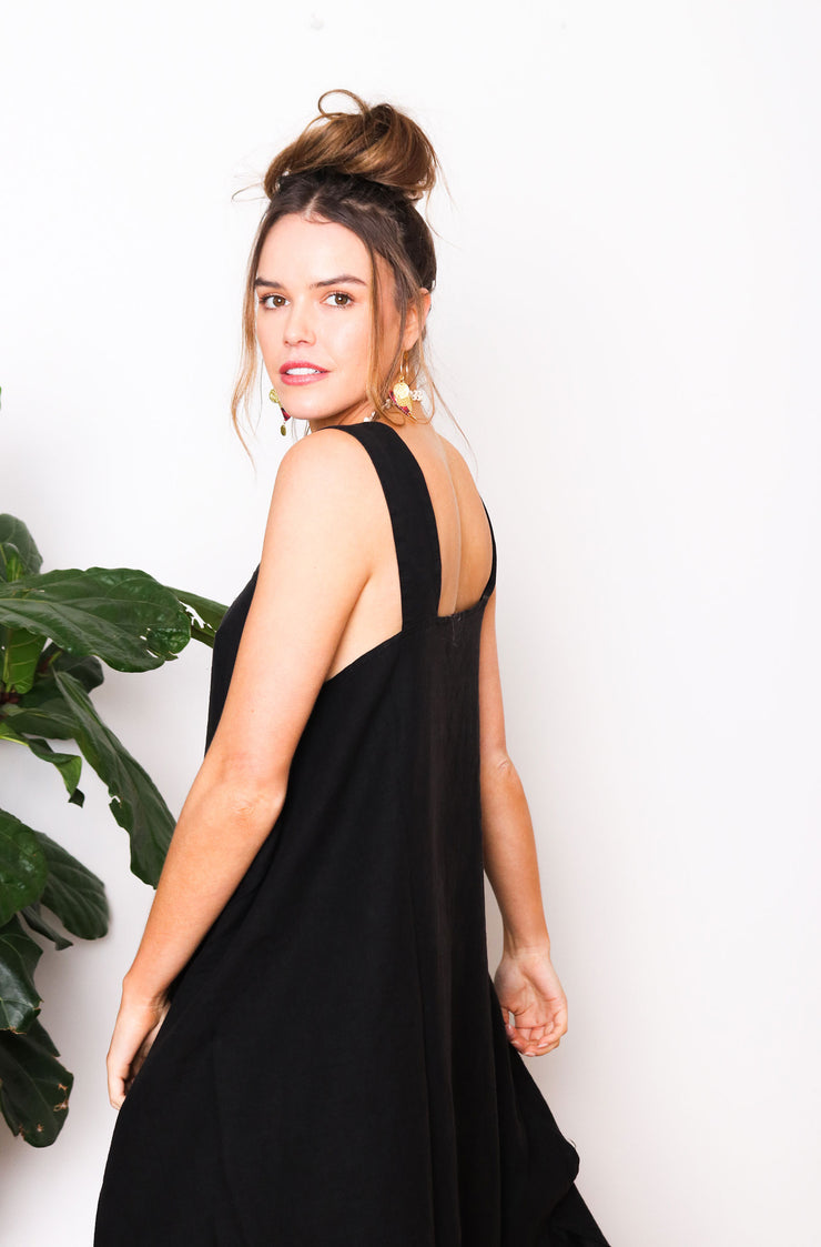 Faye Pocket Dress - Black