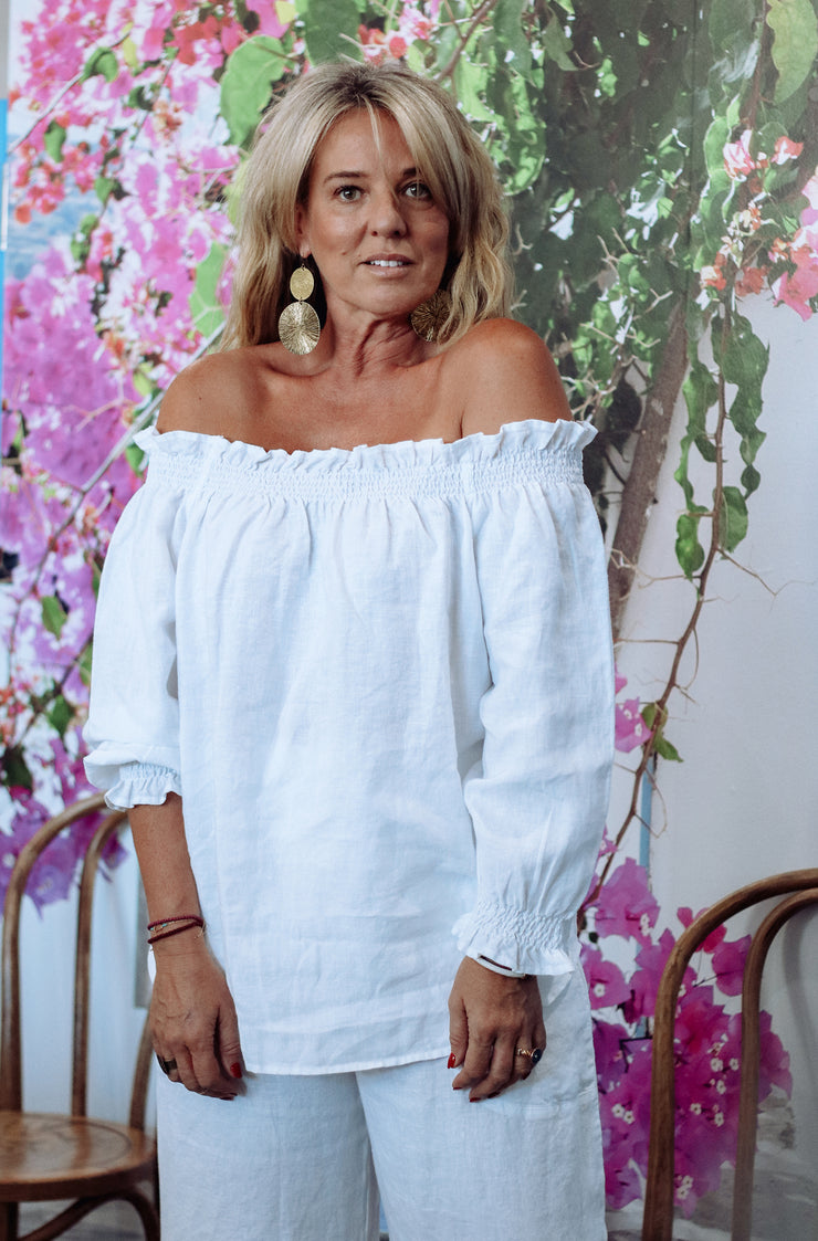KIITOS MIA TOP - WHITE