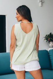Jaz Sequin Tank - Mint