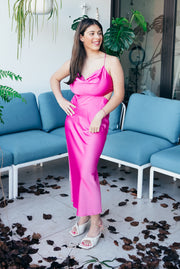 Meadow Peach Wrap Dress - Short