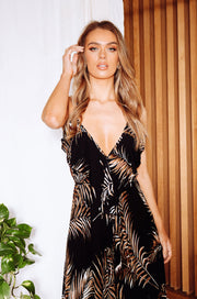 Cuba Dress - Palm Black