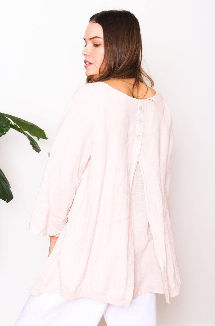 Athena Button Back - Blush