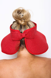 Audrey Roll Up Hat Red