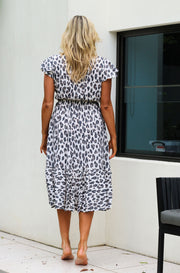 Calypso Sun Dress - Natural Leopard Print
