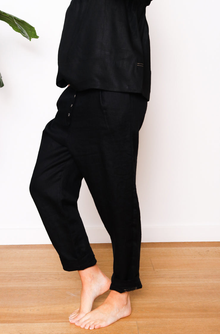 Button Down Pant - Black (Native Speaker)