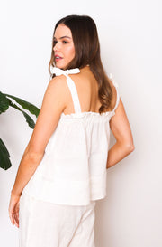 Native Speaker Top Tied Straps - Off White