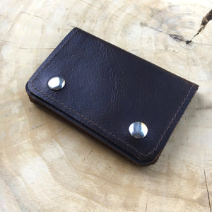 Mini Leder Portemonnaie  Money & more - Braun