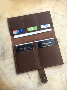 Travel-Organizer aus Leder  Chocolate
