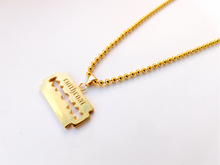 Load image into Gallery viewer, GOLD CUT THROAT PENDANT