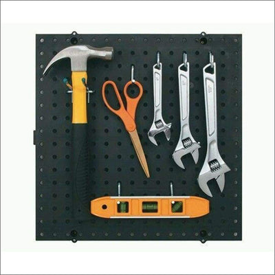 10 Sqft Wall Mount Pegboard Kit w 36 peg board hooks- Wall Control for Tools clearance Racor