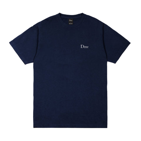 Dime Classic Embroidered T-Shirt - Navy
