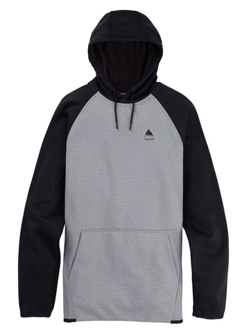 Burton Crown Hoody - Grey Heather/True Black
