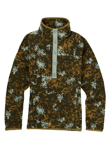 Burton W Hearth Pullover Fleece - Wheeler Camo