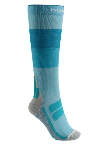 Burton Women's Performance + Ultralight Compression Snowboard Sock - Tahoe Block