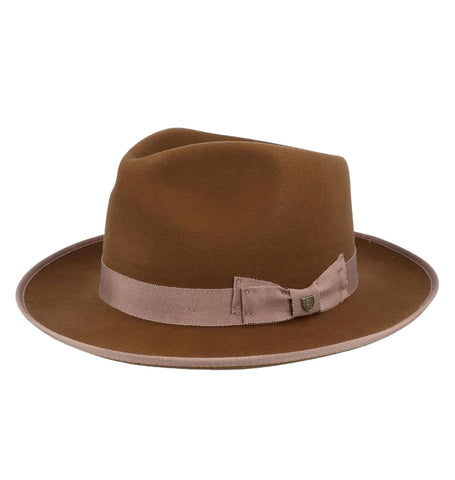Brixton Norfolk Reserve Fedora - Coffee