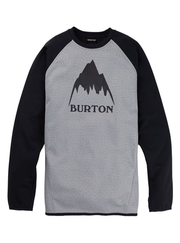 Burton Crown Crew Sweater - Grey Heather/True Black