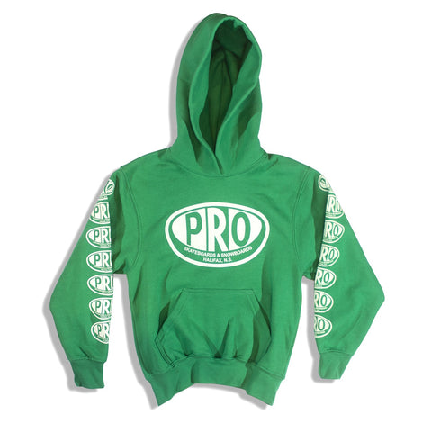 Pro Skates Youth Hoodie - Kelly Green