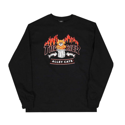 Thrasher Alley Cats L/S Shirt - Black