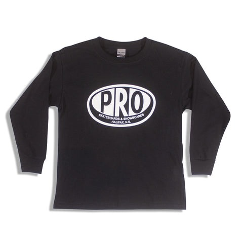 Pro Skates Youth L/S Tee - Black