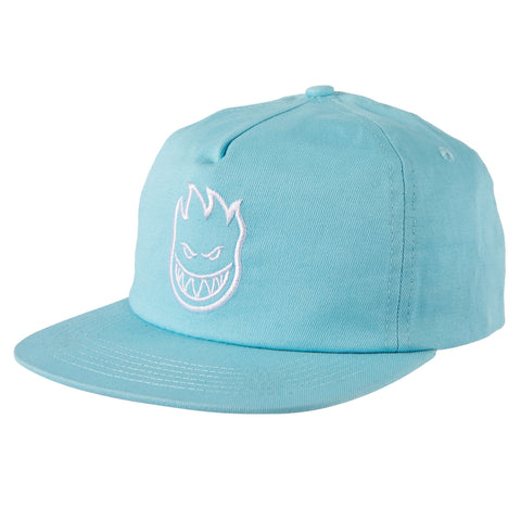 Spitfire Bighead Snapback Cap - Light Blue/White