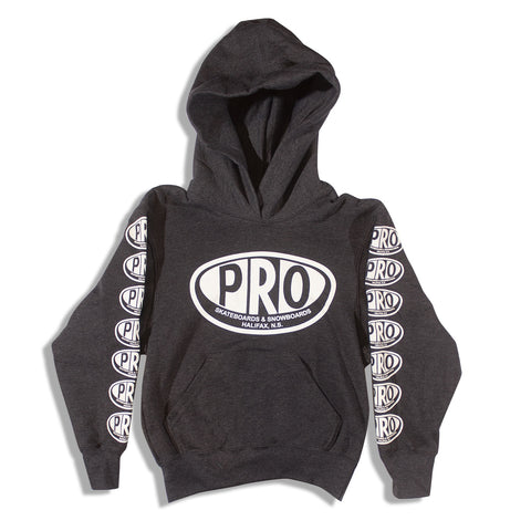 Pro Skates Youth Hoodie - Dark Heather Grey