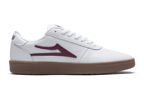 Lakai Manchester XLK Shoe - White/Gum Leather