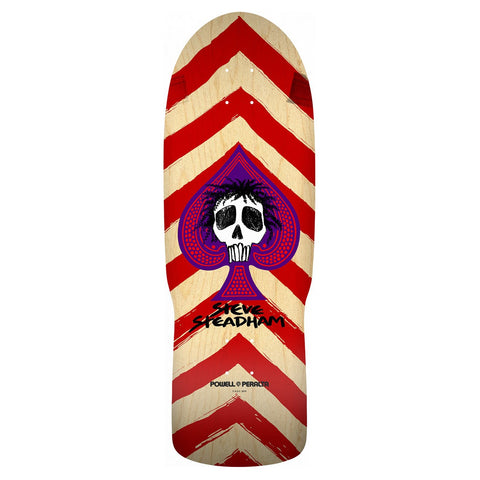 Powell Peralta Retro Steadham Spade Deck - Natural/Red
