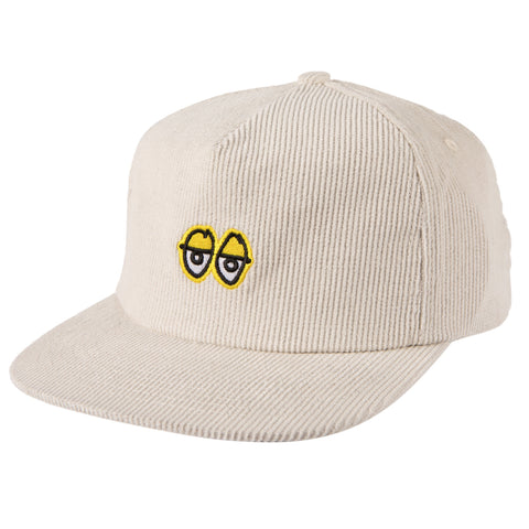 Krooked Eyes Snapback Cap - White/Yellow